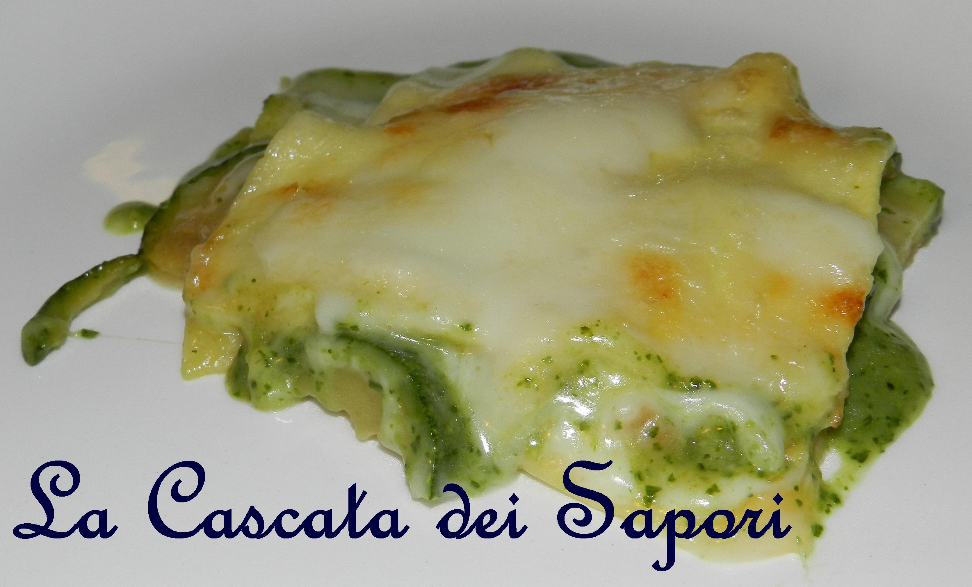 Lasagne al Forno con Pesto e Zucchine