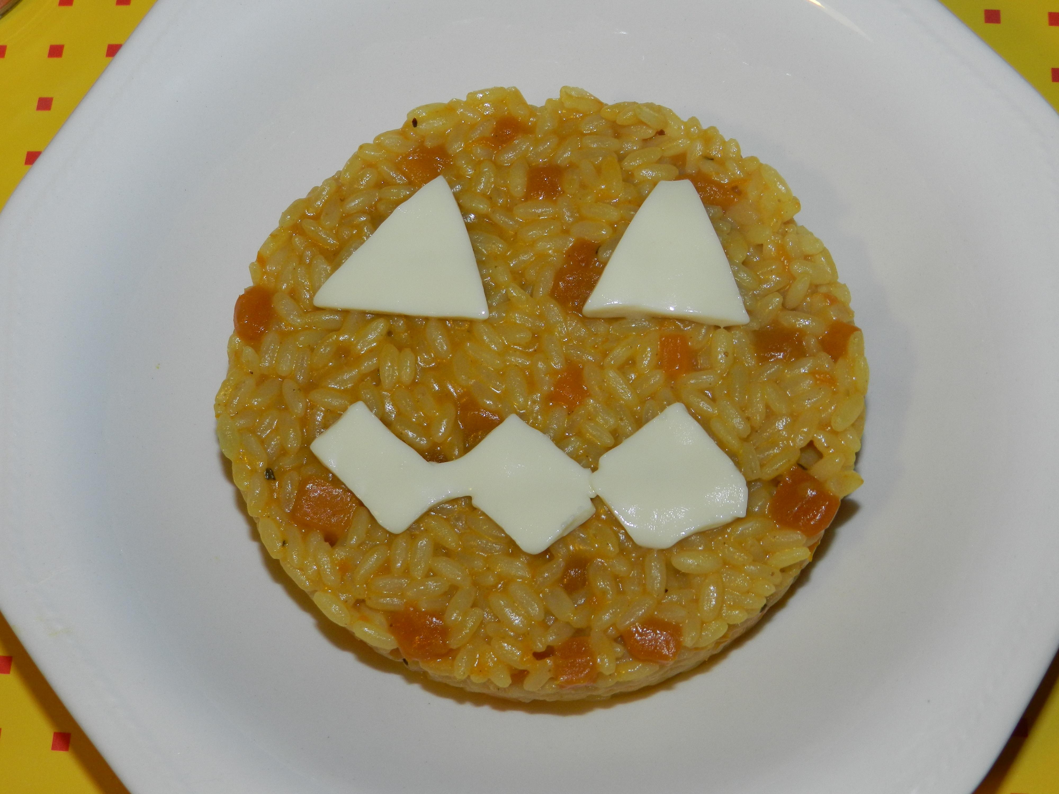 Risotto alla zucca e curry per halloween