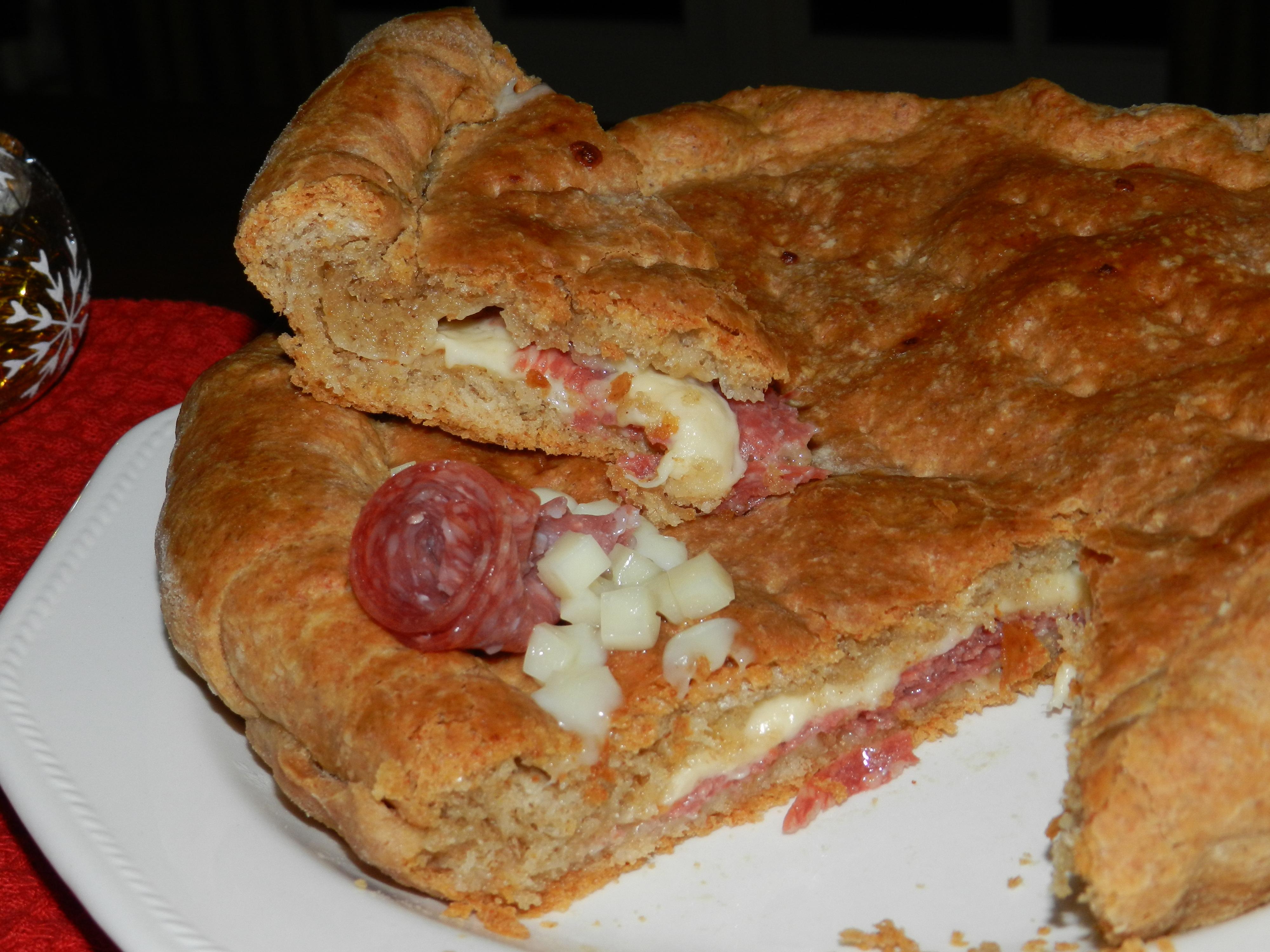torta rustica salame e asiago