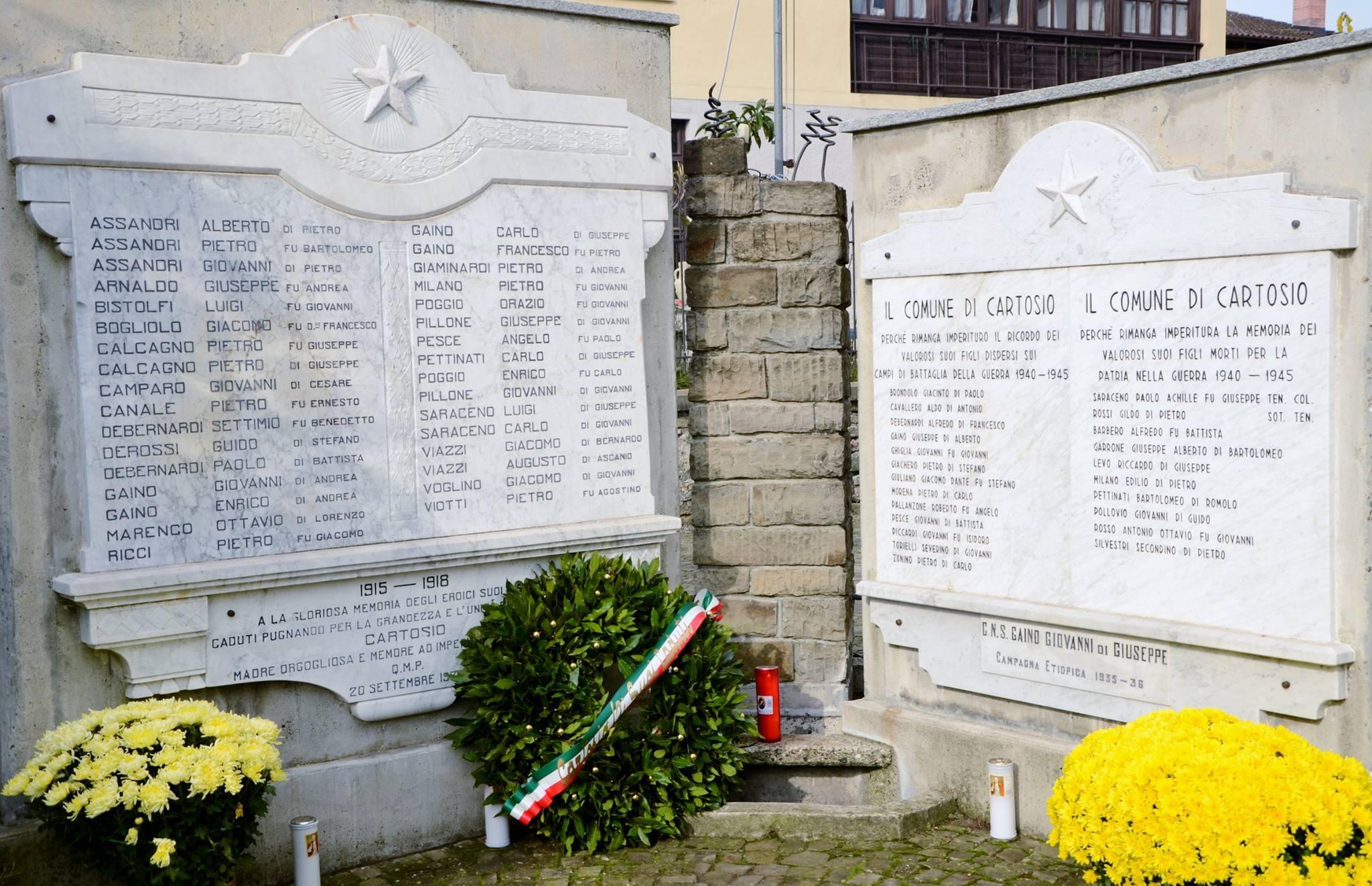 Monumenti ai caduti cartosio