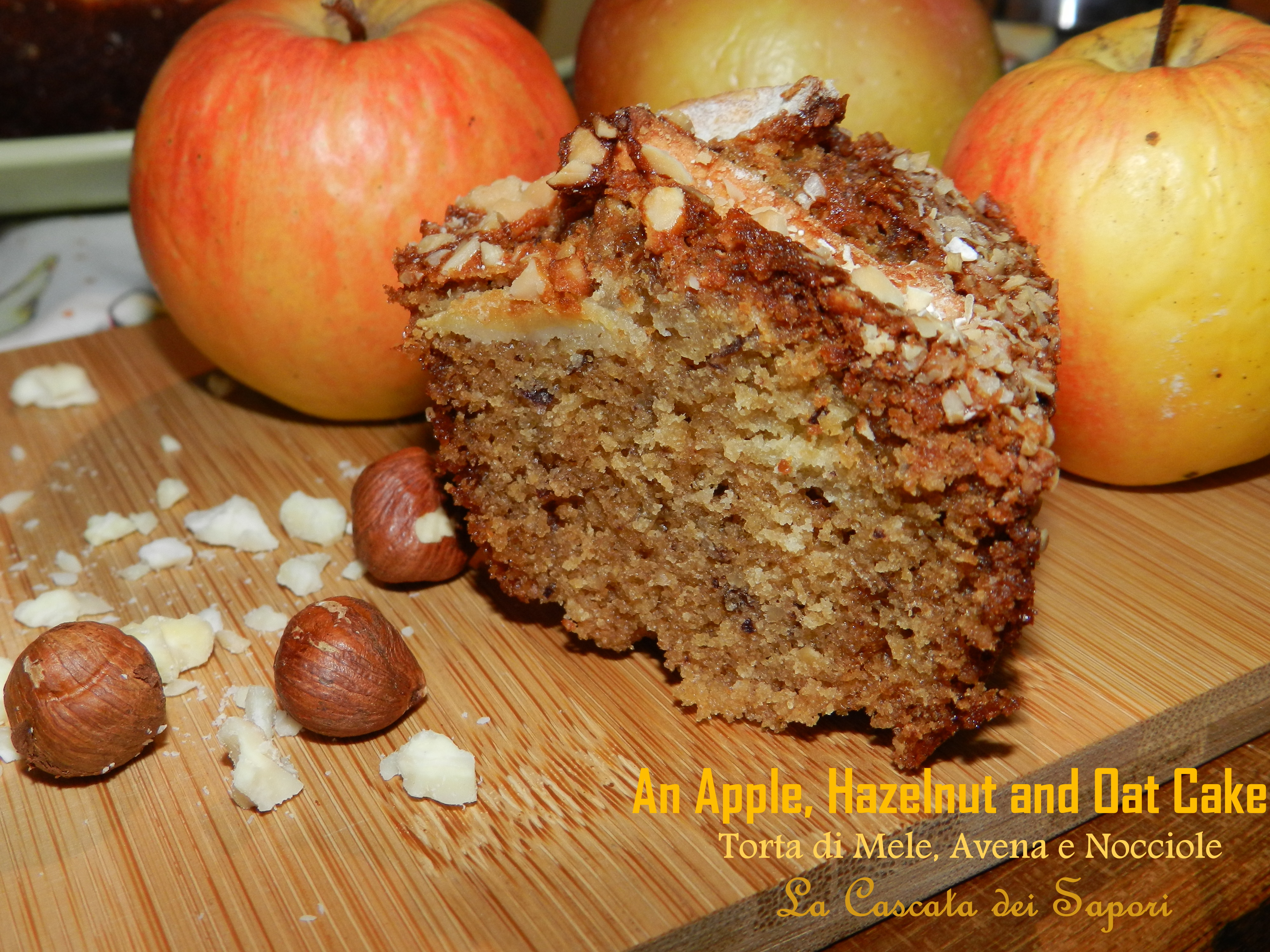 AN APPLE, HAZELNUT AND OAT CAKE TORTA DI MELE, NOCCIOLE E AVENA RE-CAKE2.0