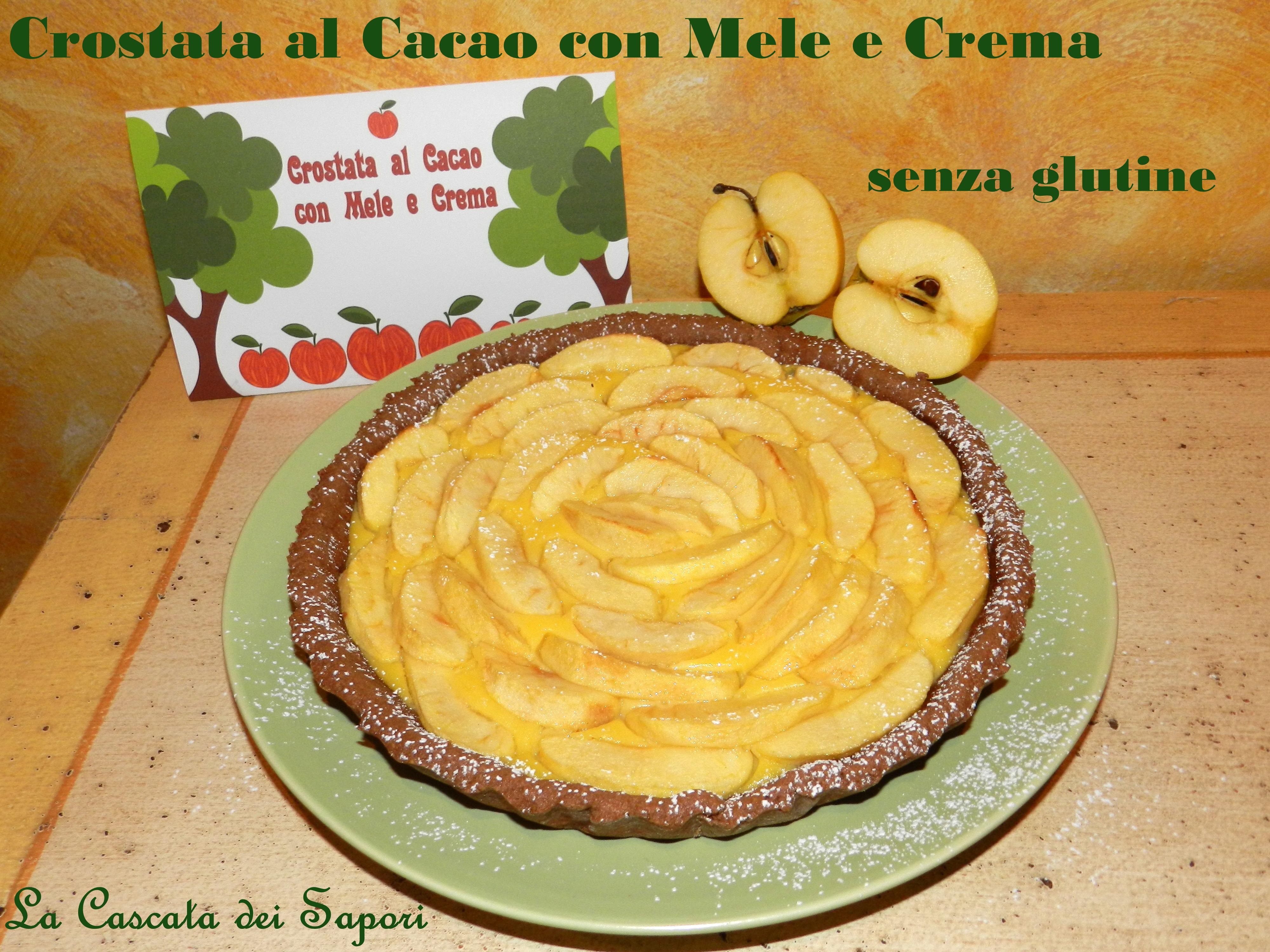 Crostata al Cacao con Mele e Crema