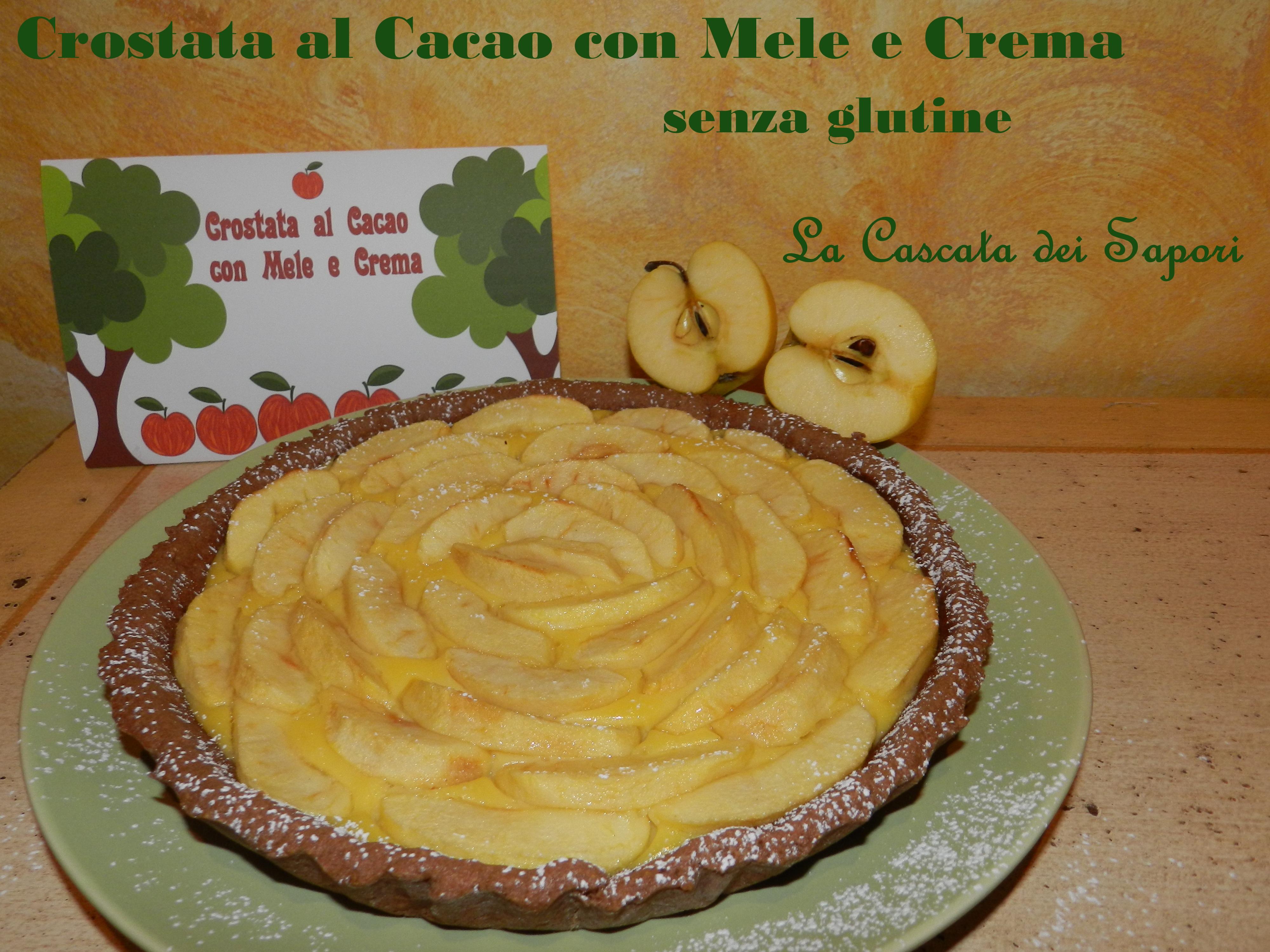Crostata al cacao con mele e crema 3