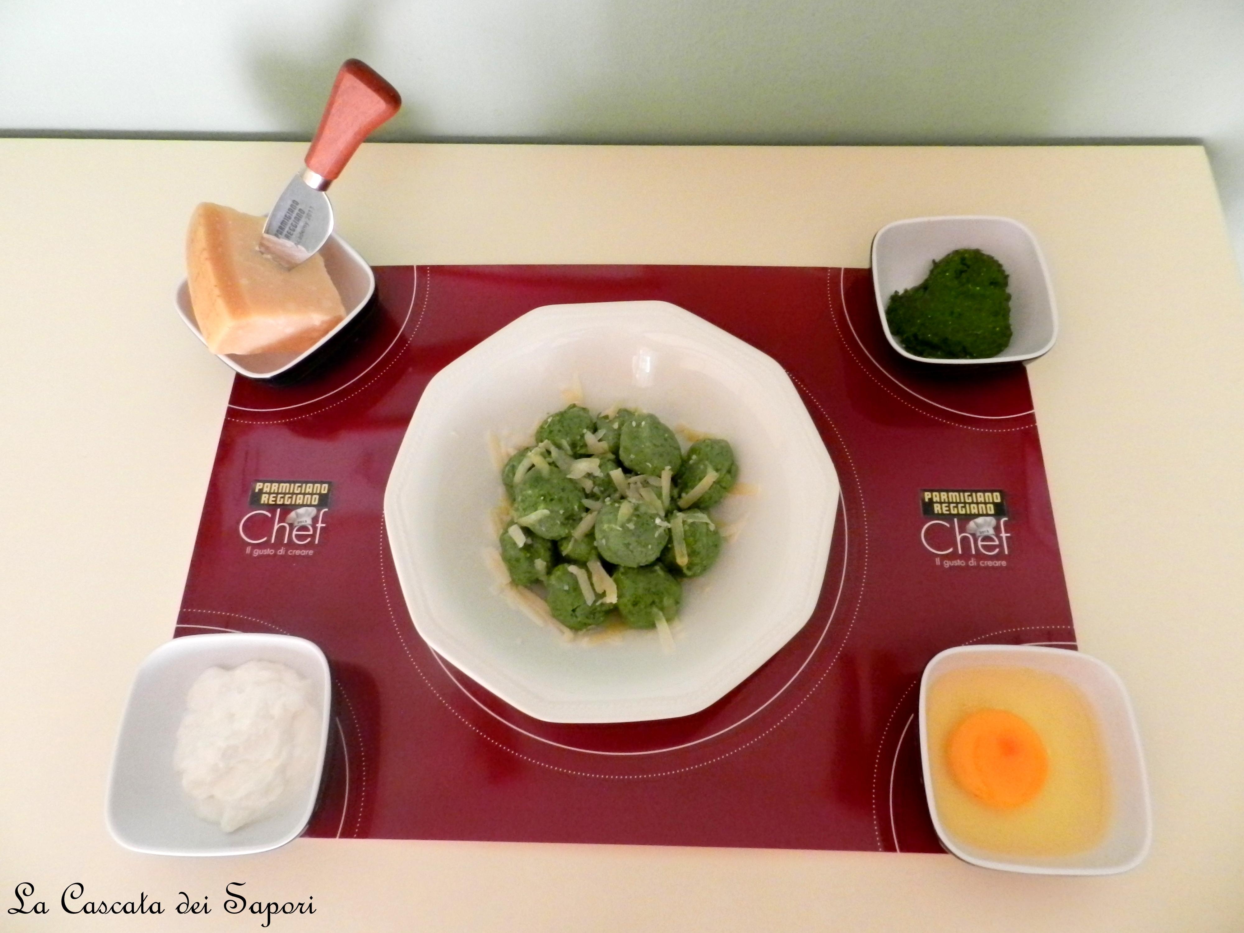 Gnocchi verdi di Ricotta e Coste con Parmigiano Reggiano 24 mesi