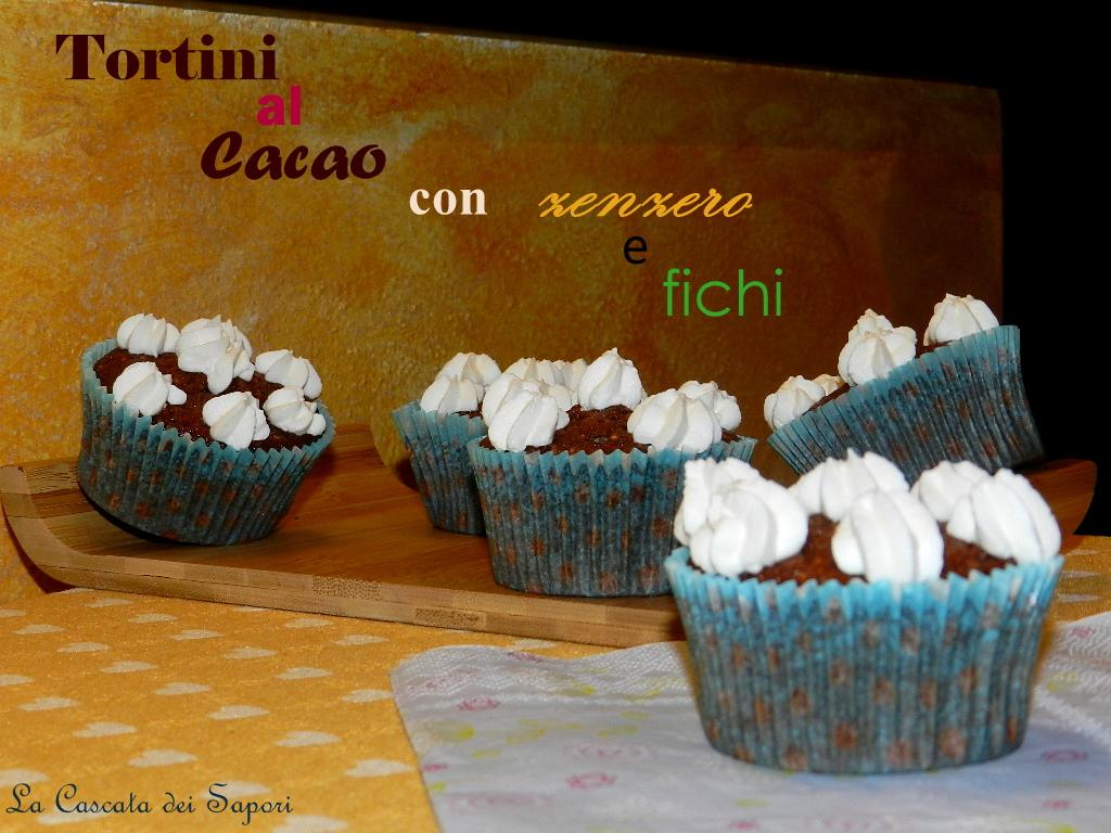 Tortini al cacao con zenzero e fichi