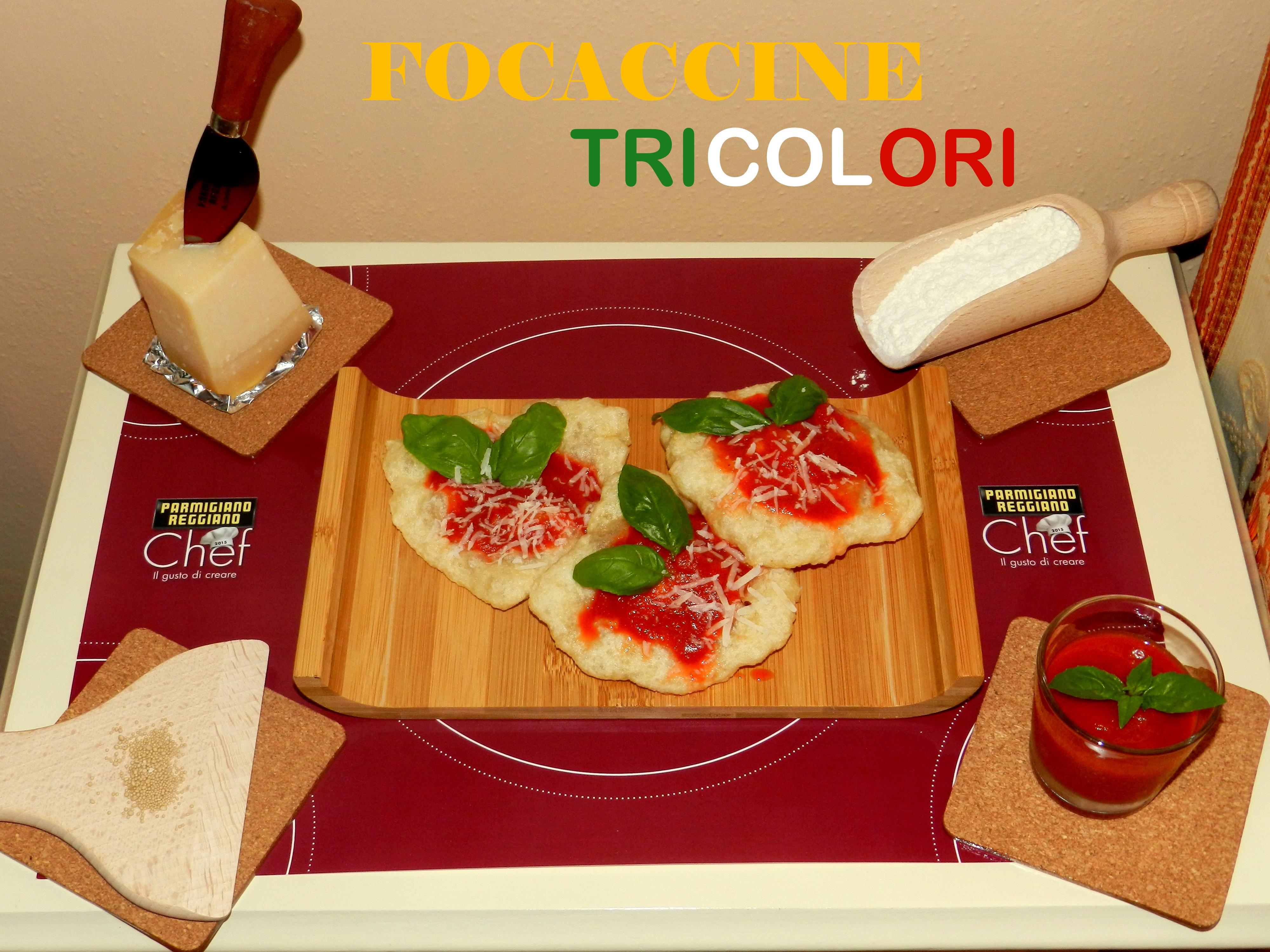 Focaccine-tricolori
