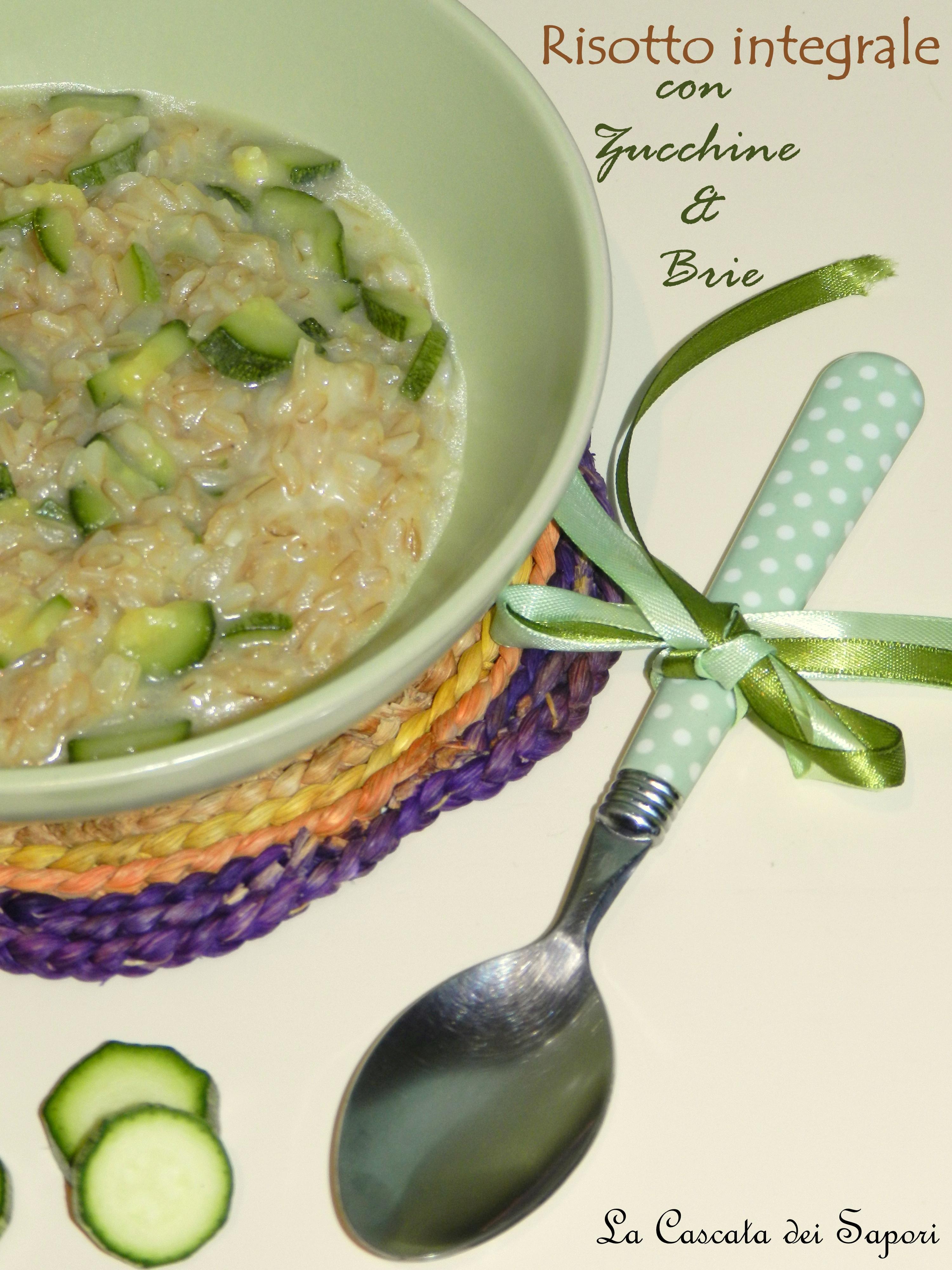 Risotto-integrale-con-zucchine-e-brie