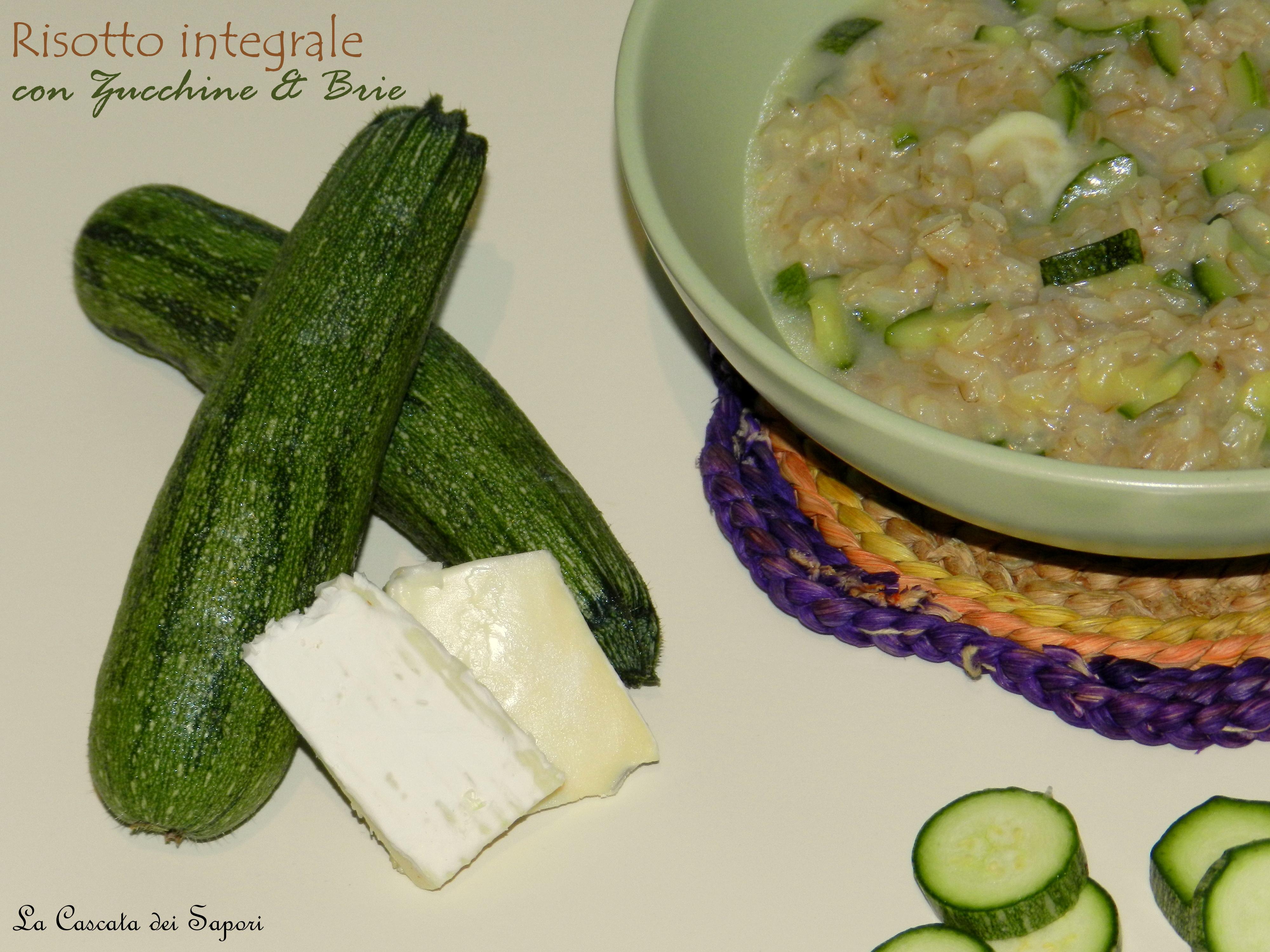Risotto integrale con Zucchine & Brie
