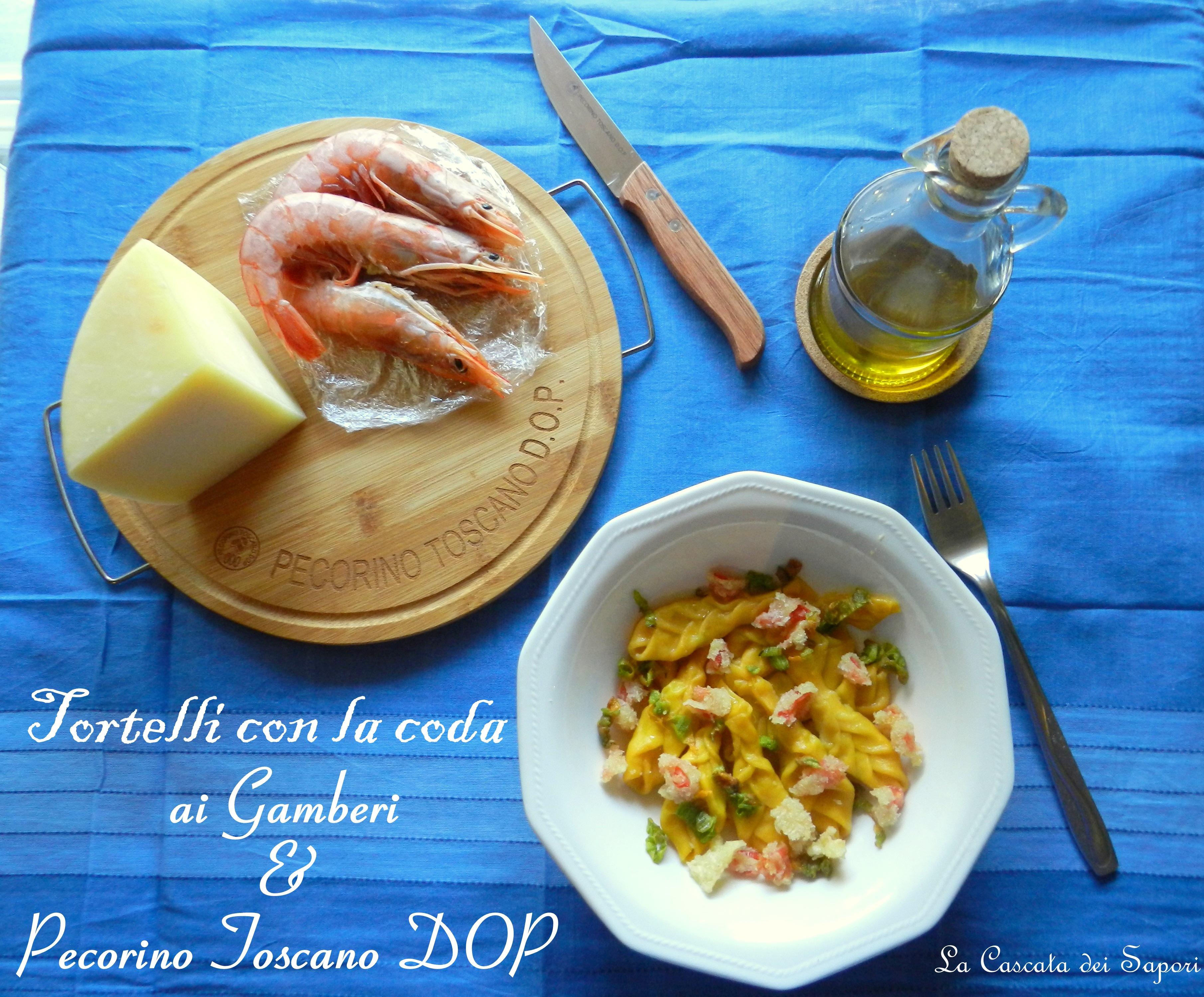 Tortelli con la coda ai Gamberi e Pecorino Toscano DOP