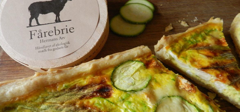 Crostata salata al Farro con Zucchine & Brie danese