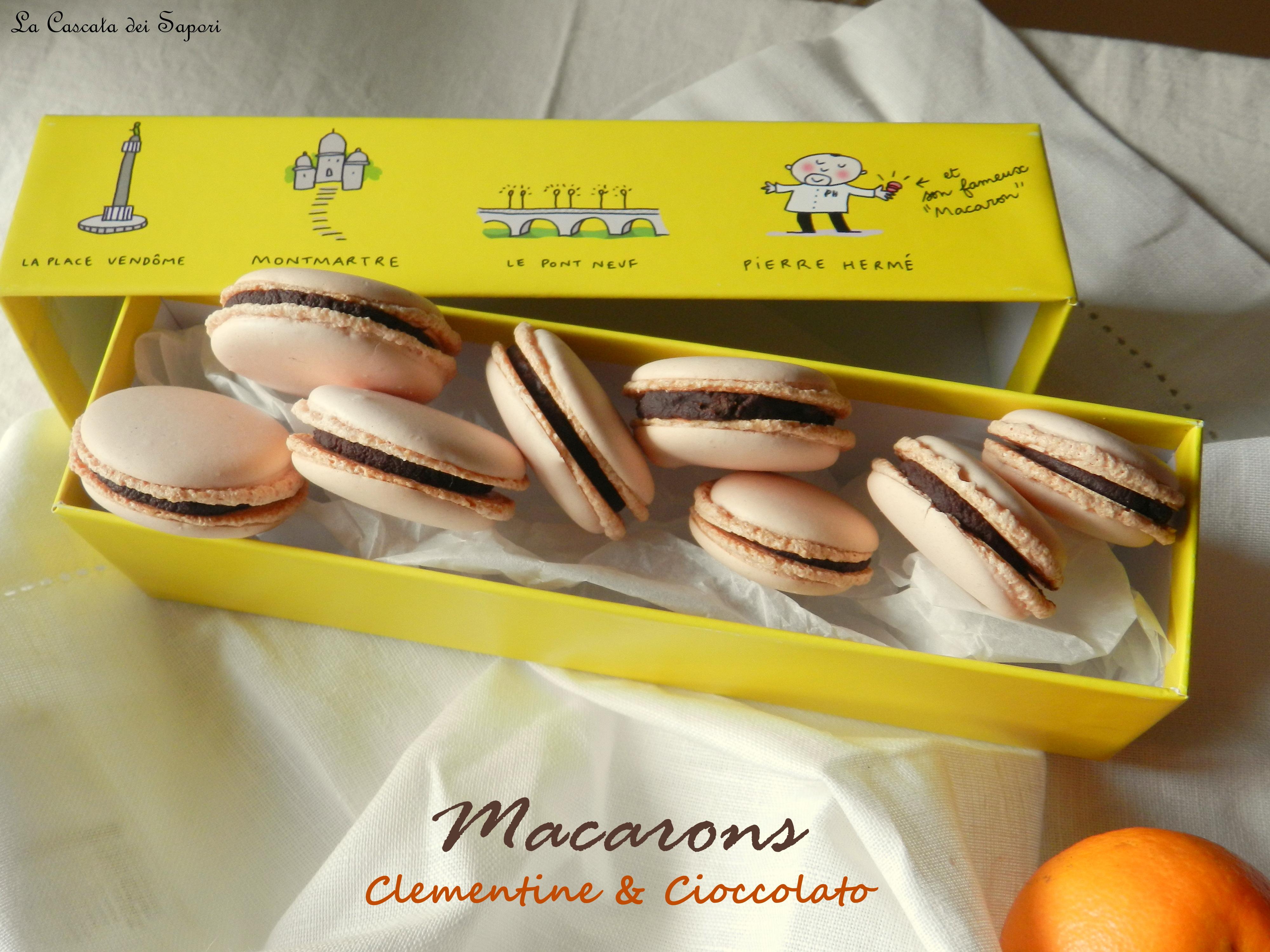 Macarons Clementine e Cioccolato