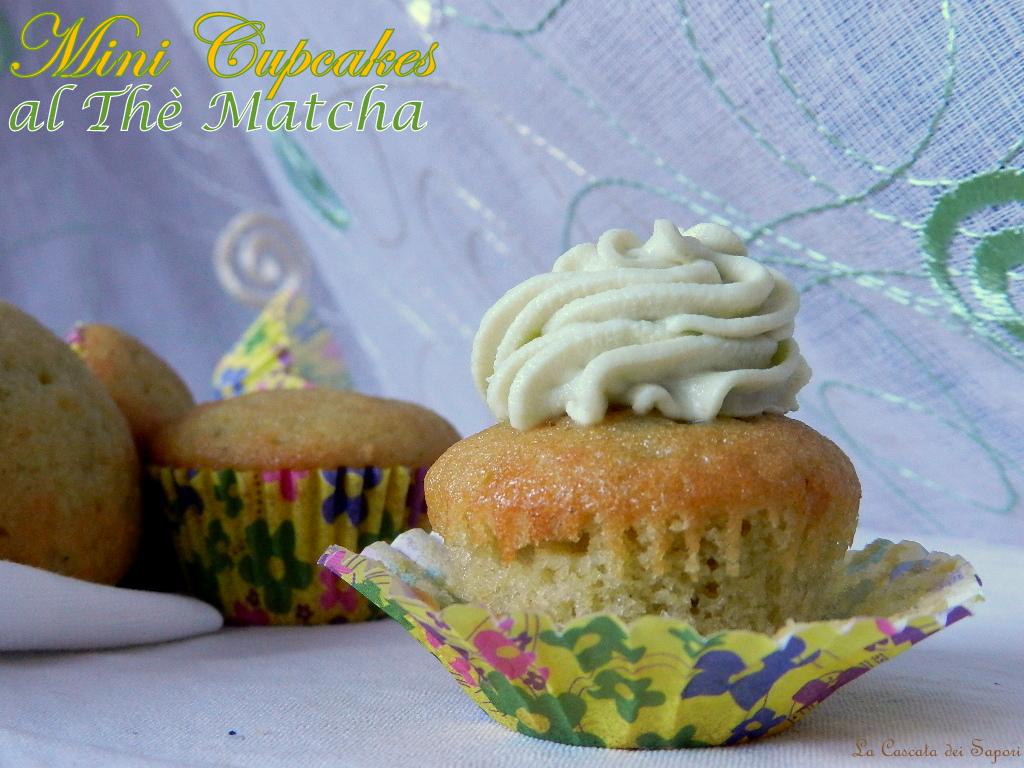 mini cupcakes al thè matcha