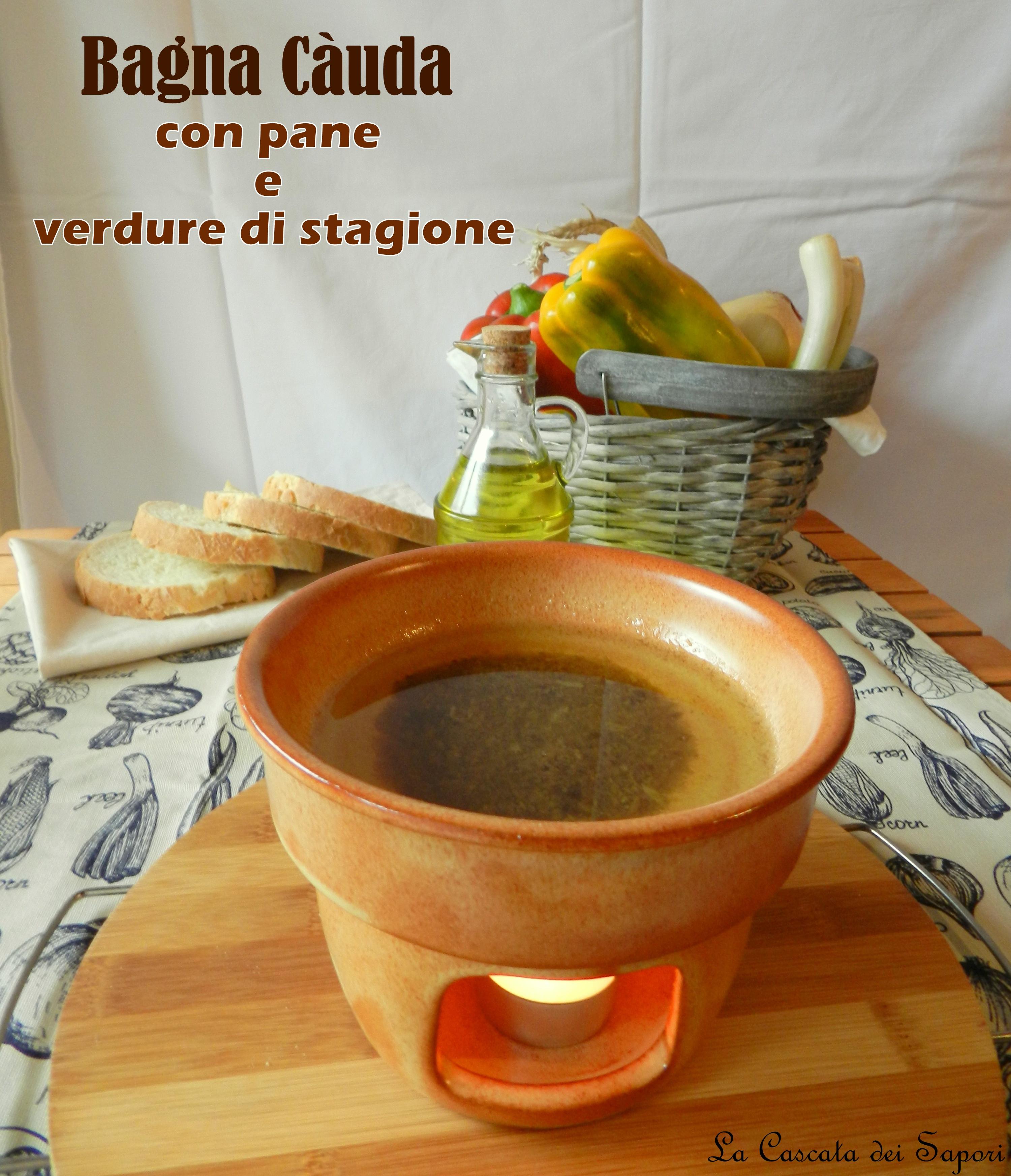 Bagna Càuda leggera con pane e verdure di stagione