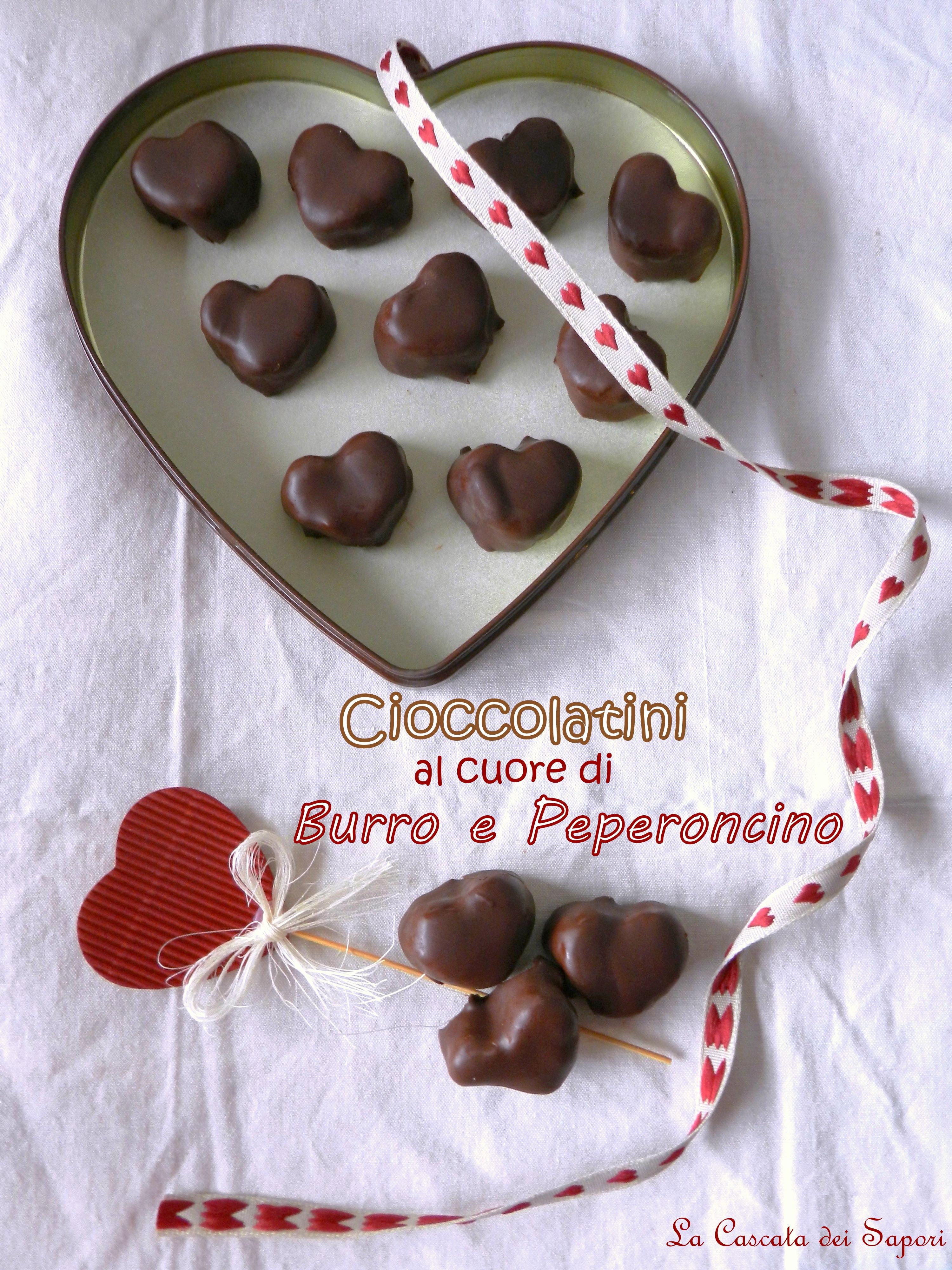 Cioccolatini al cuore di burro e peperoncino