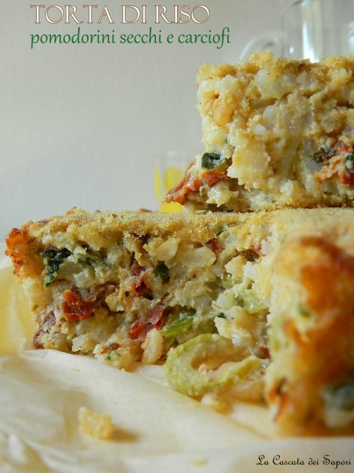 Torta-di-riso-pomodorini-secchi-e-carciofi
