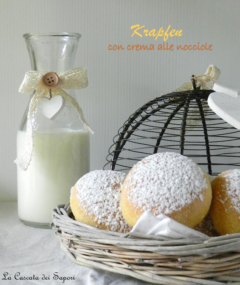 Krapfen con lievito madre e crema alle nocciole