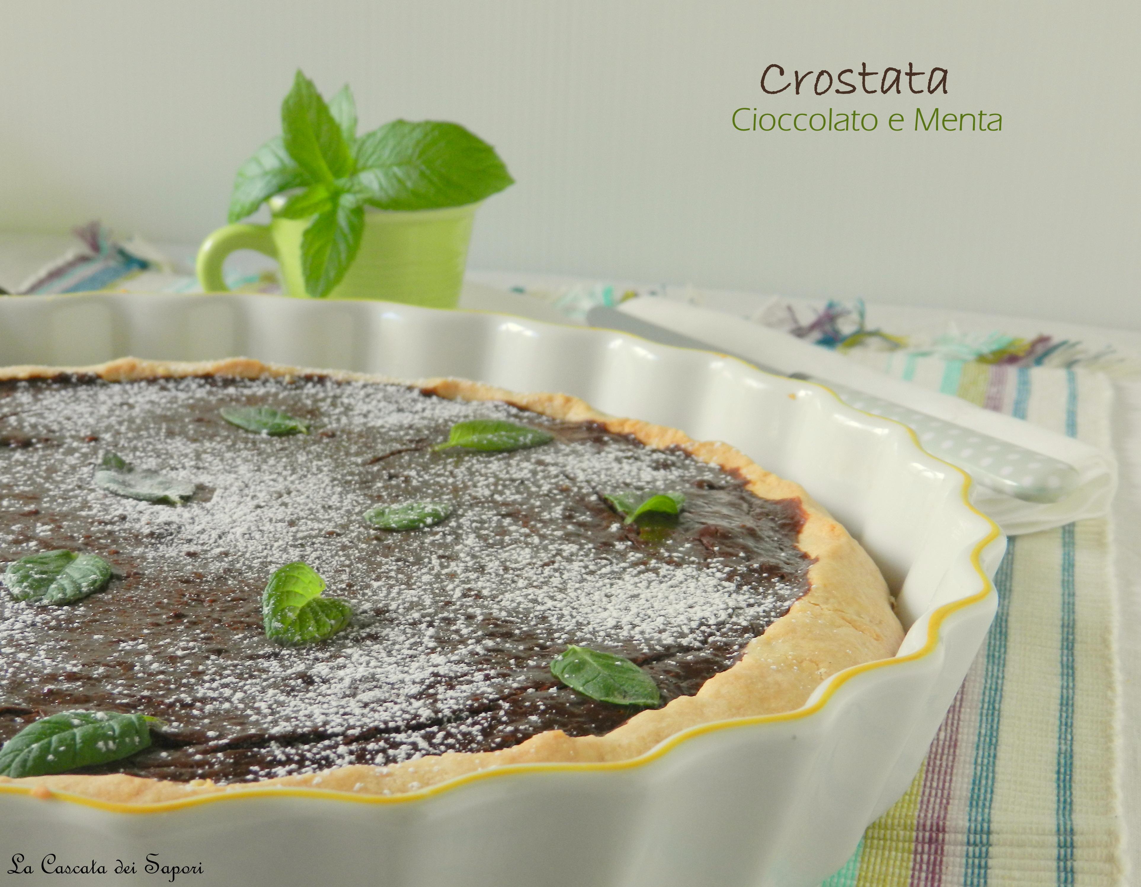 Crostata al cioccolato e menta