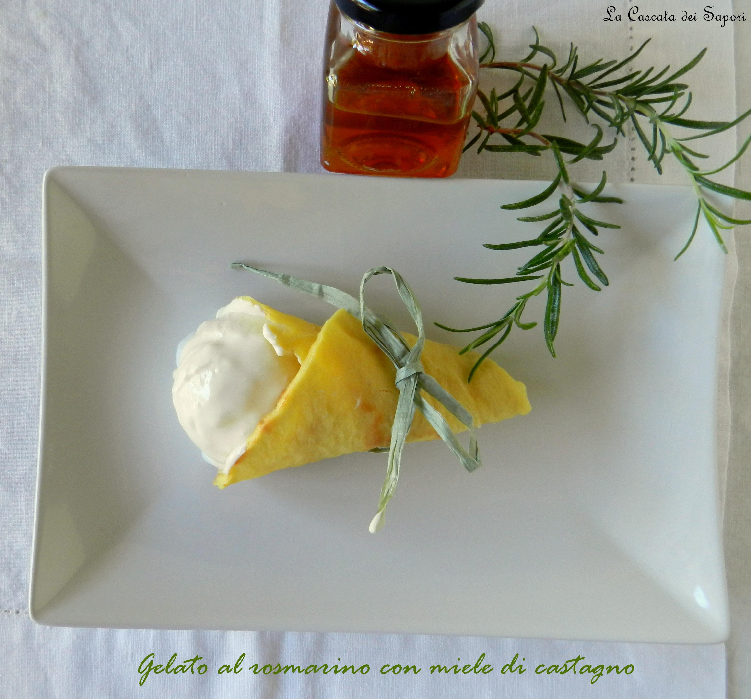 gelato al rosmarino con miele di castagno
