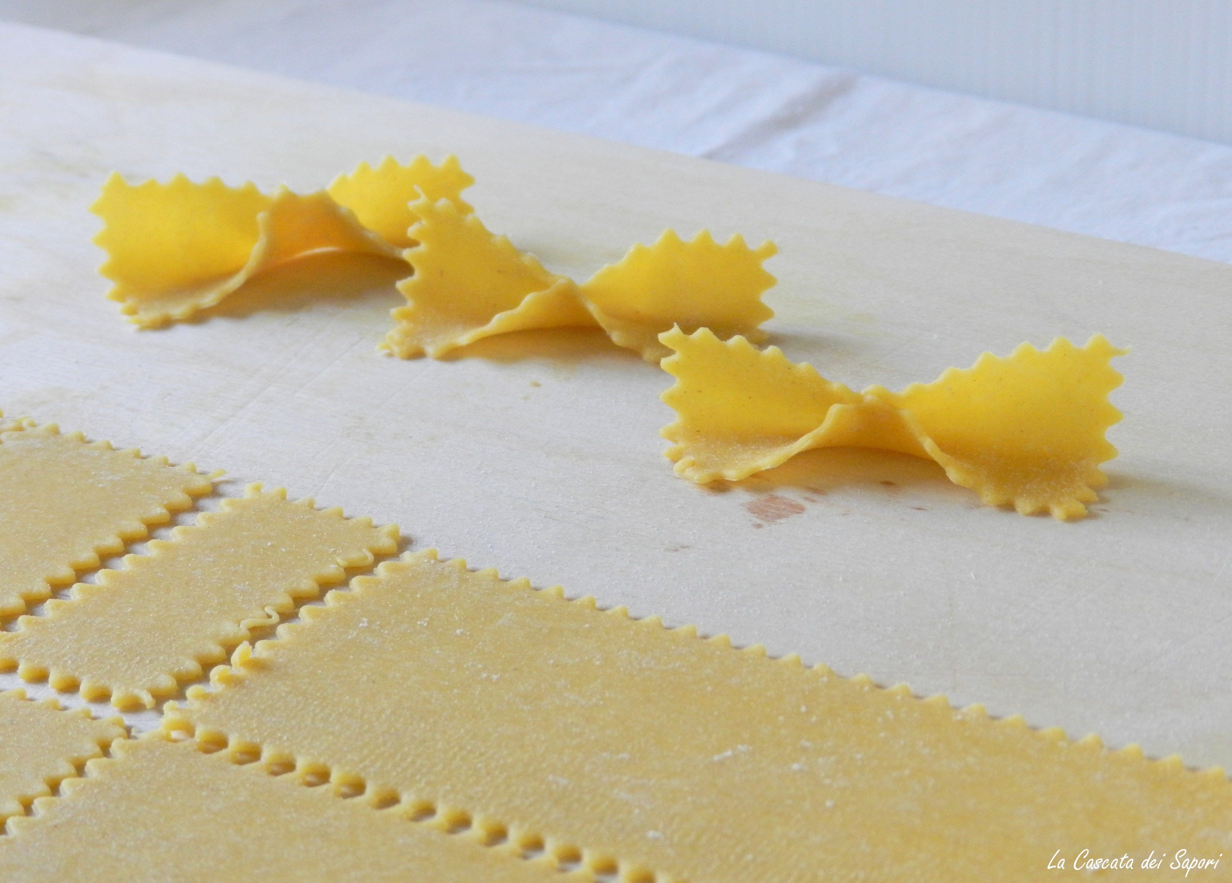 Farfalle homemade (fatte in casa)