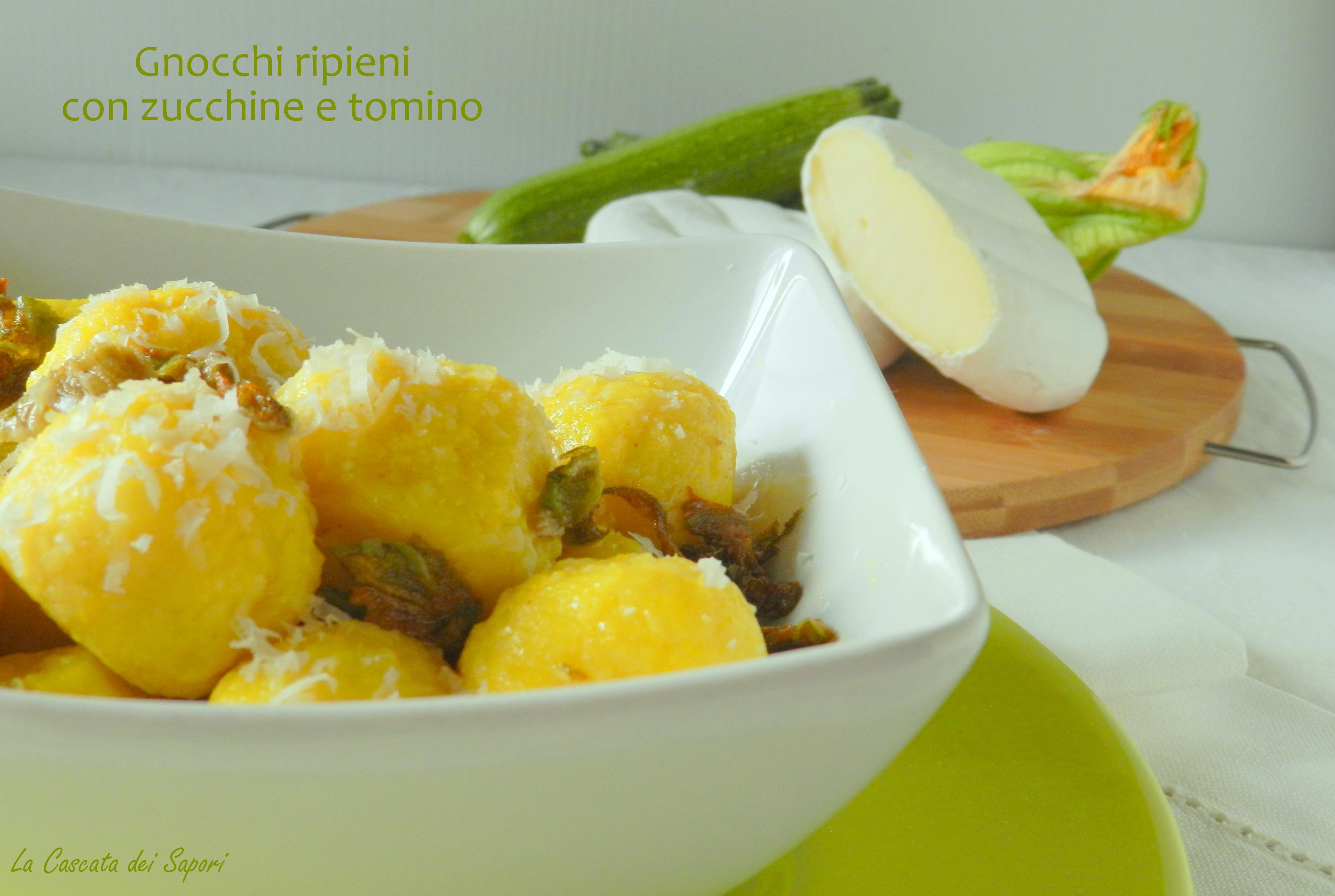 Gnocchi ripieni di zucchine e tomino MTC n.59