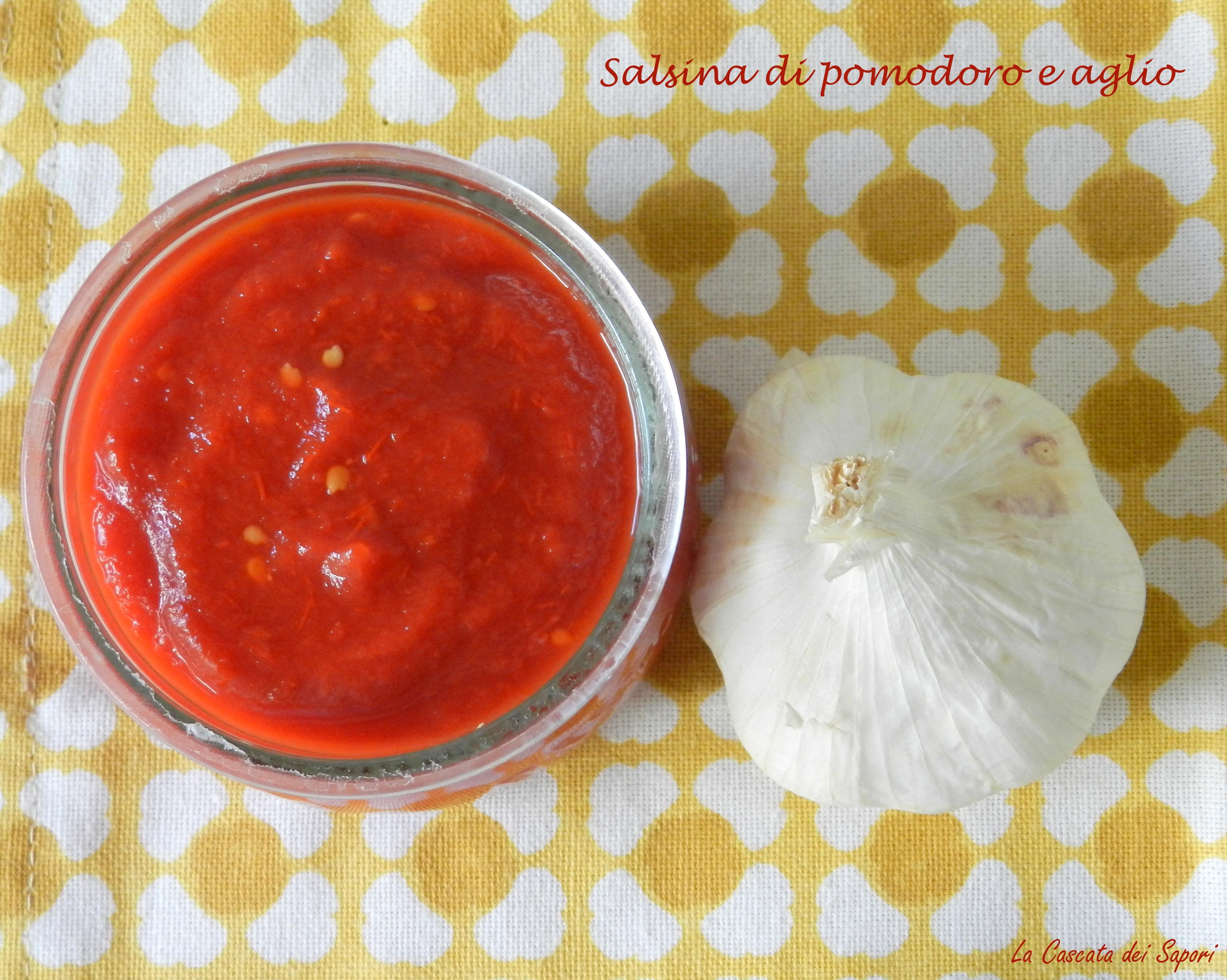 salsa pomodoro e aglio