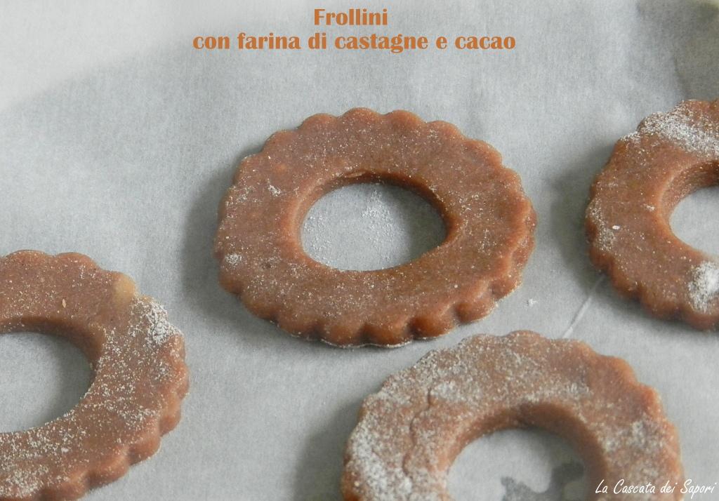 frollini con farina di castagne e cacao