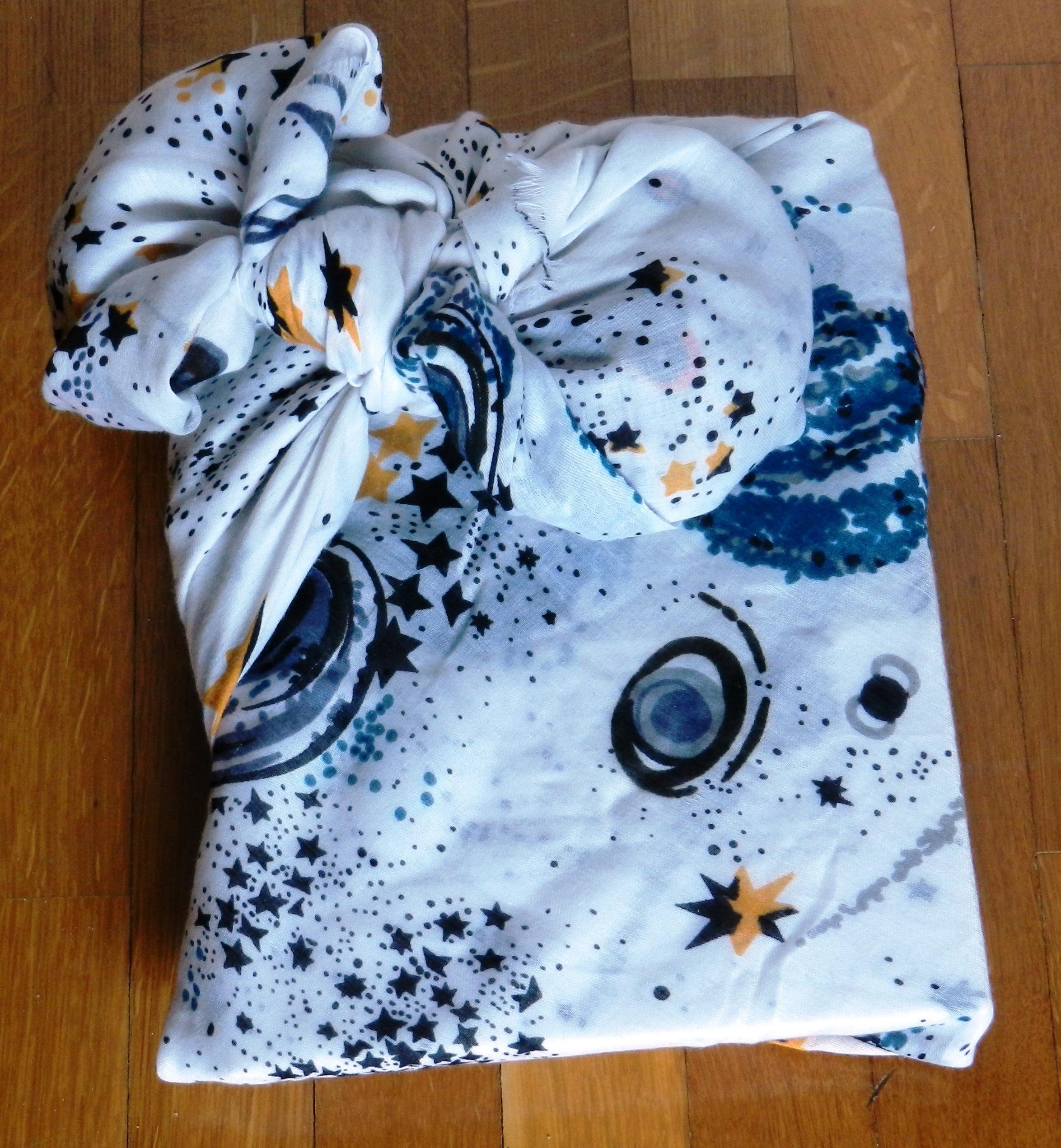 Furoshiki: come impacchettare un libro con un foulard TUTORIAL #1