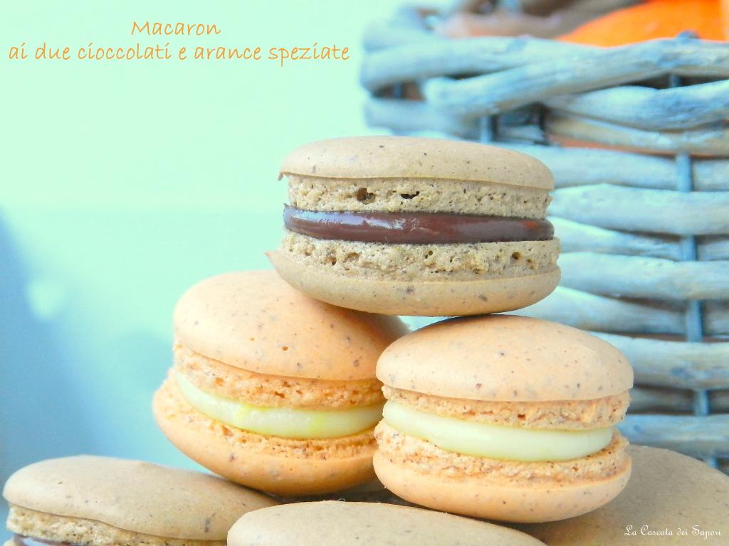 Macaron ai due cioccolati e arance speziate