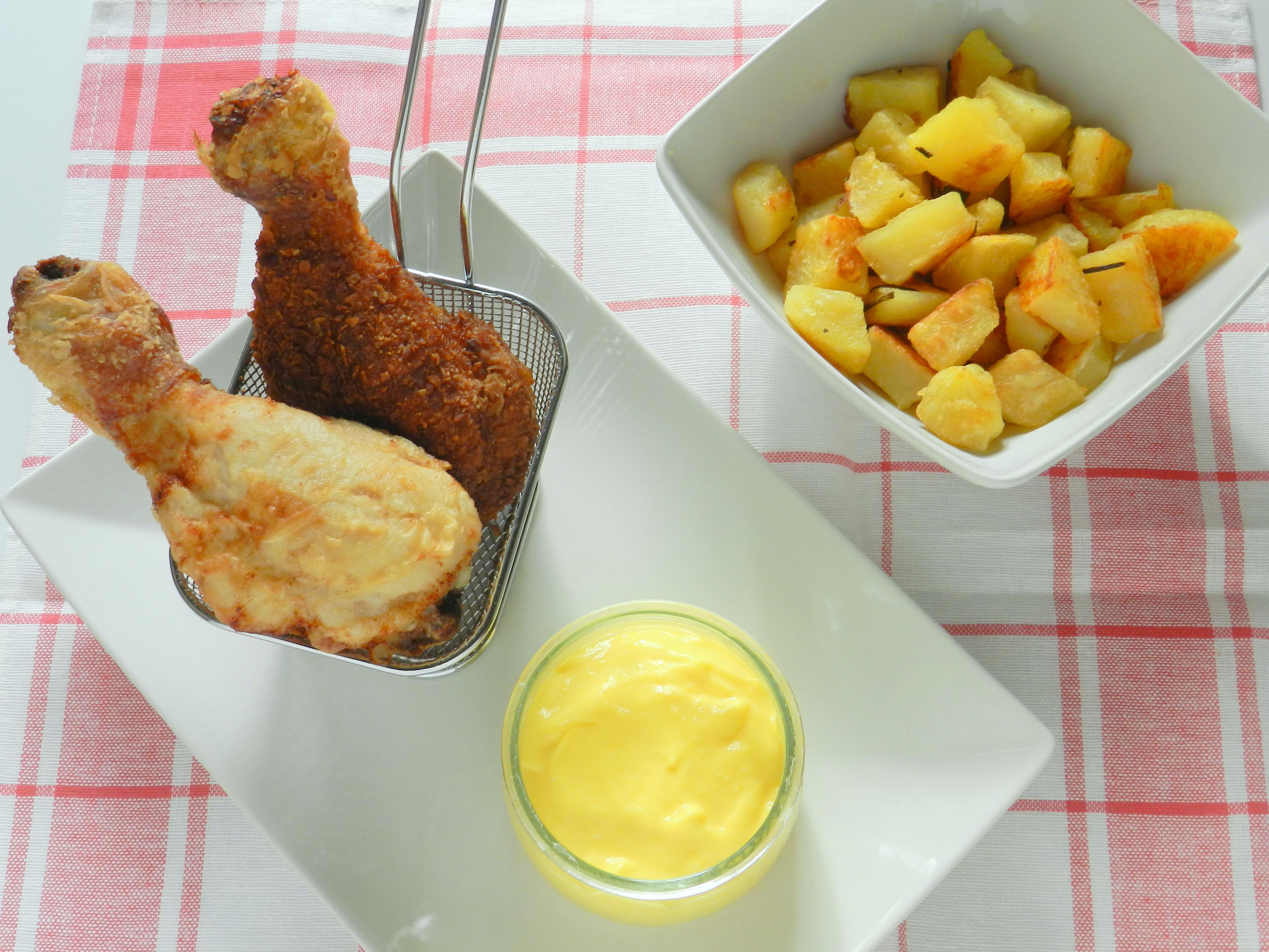Pollo Fritto con patate alla birra e zabaione salato MTC63