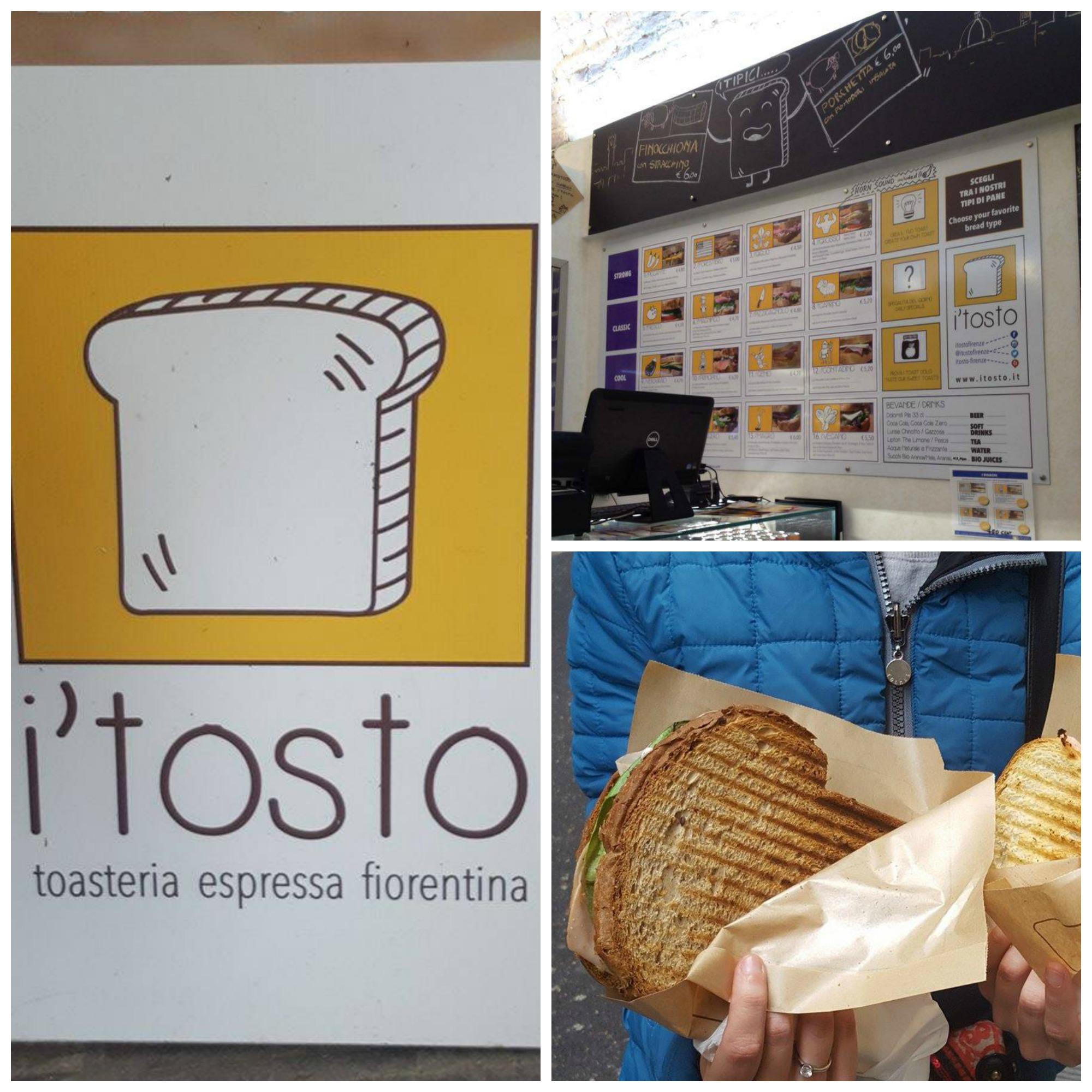 GustiAMO FIRENZE: Dove mangiare a Firenze - i'tosto - Toasteria Espressa Fiorentina