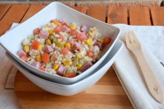 Insalata ai tre cereali: riso, farro e orzo