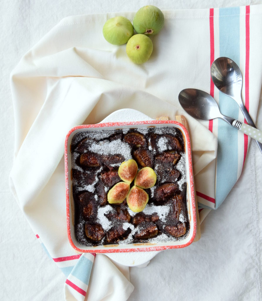 Clafoutis al cioccolato e fichi
