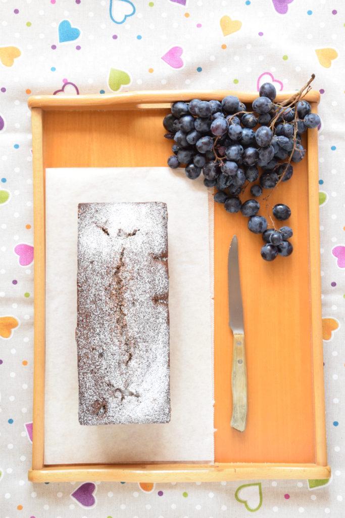 Plumcake integrale con Uva Moscato d'Amburgo