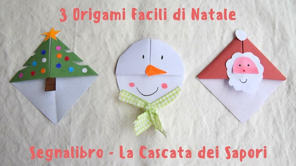 3 Origami Facili di Natale - Segnalibro