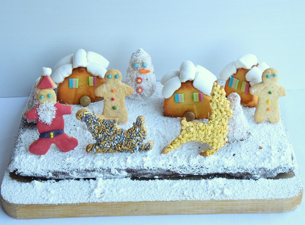 Il Villaggio di Babbo Natale. La ricetta completa per preparare torte e biscotti