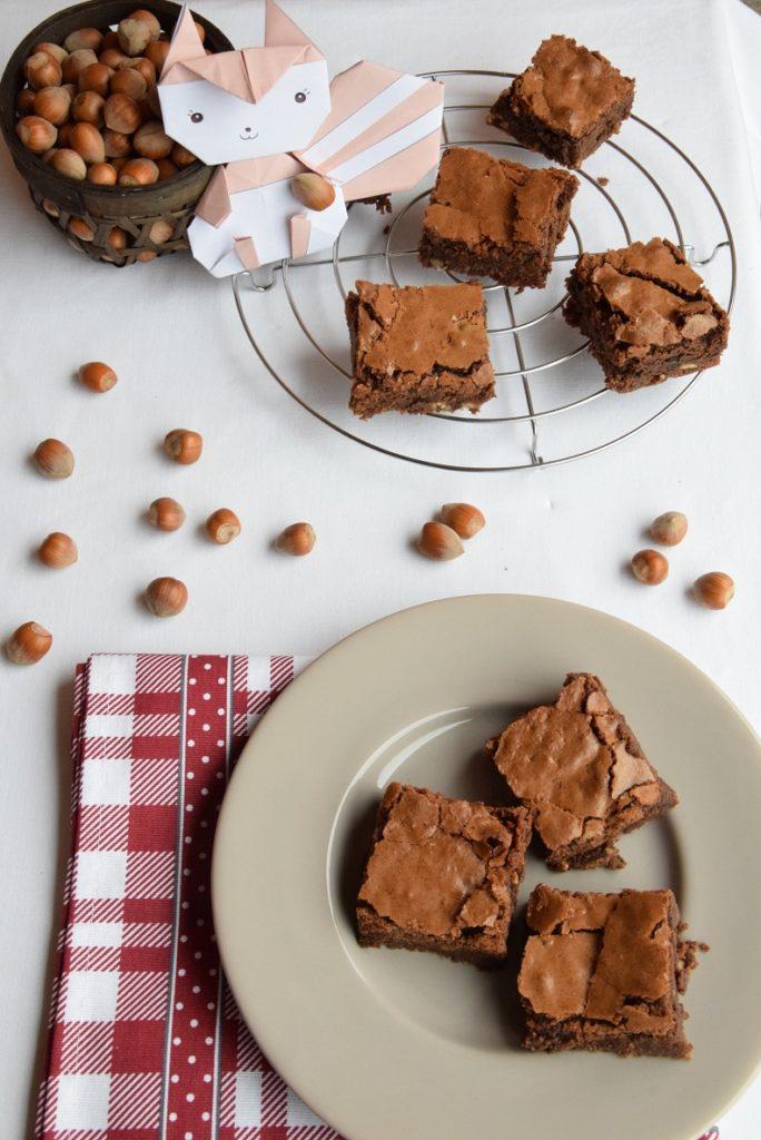 Brownies alle nocciole e cioccolato fondente