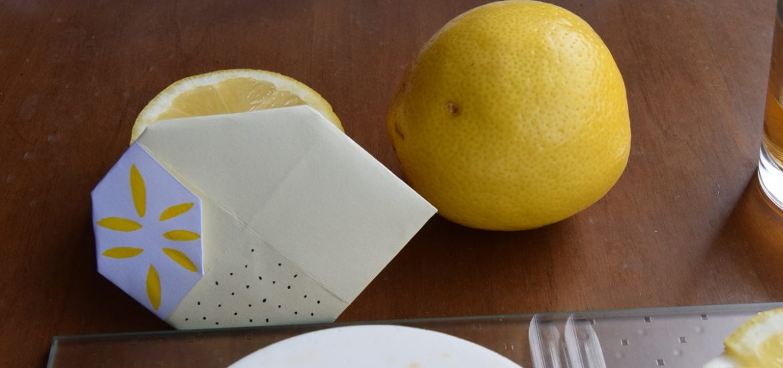 Come realizzare il limone con la carta. Origami di Frutta Facili