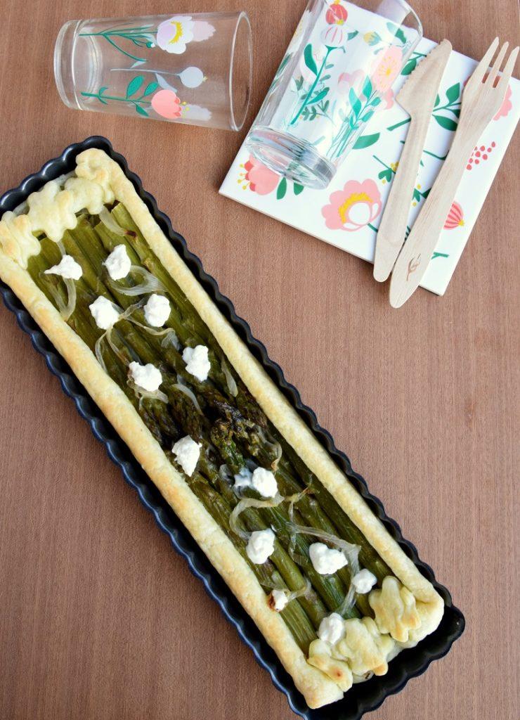 Il mio Asparagus and Goat Cheese Tart per il Club del 27