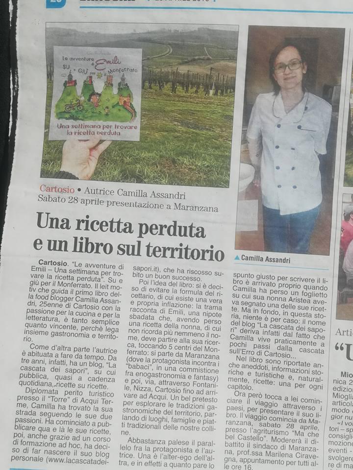 Le Avventure di Emilì Su e Giù per il Monferrato Una settimana per trovare la ricetta perduta L'ANCORA