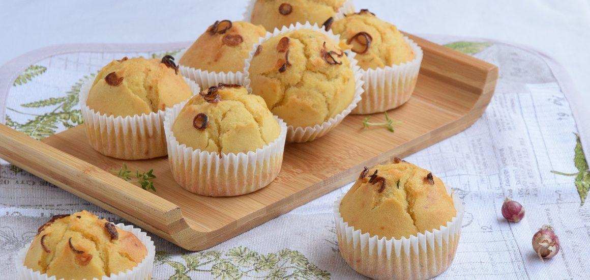 Muffin Salati alla Cipolla Egiziana e Birra
