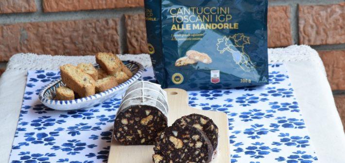 Salame al Cioccolato con Cantucci toscani IGP alle mandorle