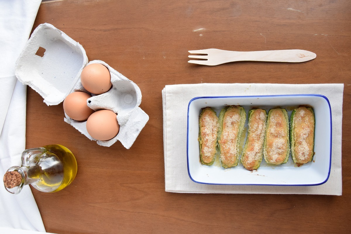 Zucchine Ripiene al forno con mortadella