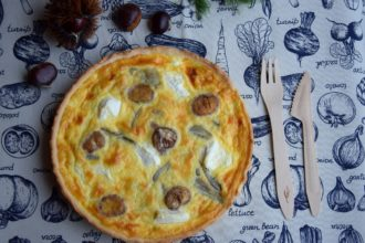 La mia Quiche con Finocchi caramellati, Ricotta e Castagne per Il Club del 27