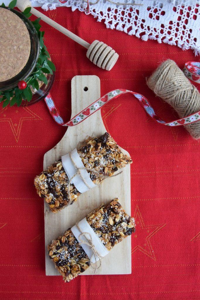 Barrette ai Cereali fatte in casa con cioccolato e cocco