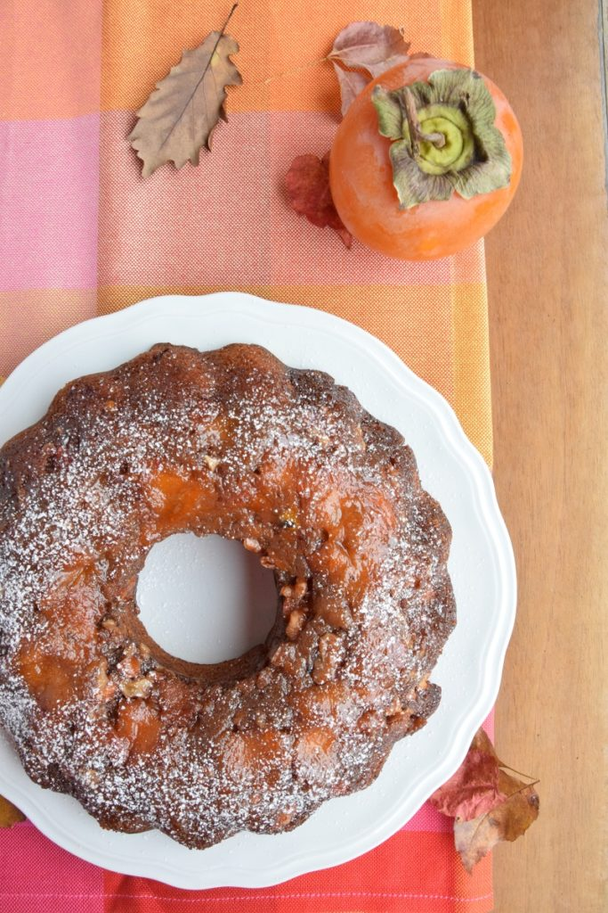 Ciambella Rovesciata ai Cachi e Noci - Upside Down Cake ai Cachi e Noci