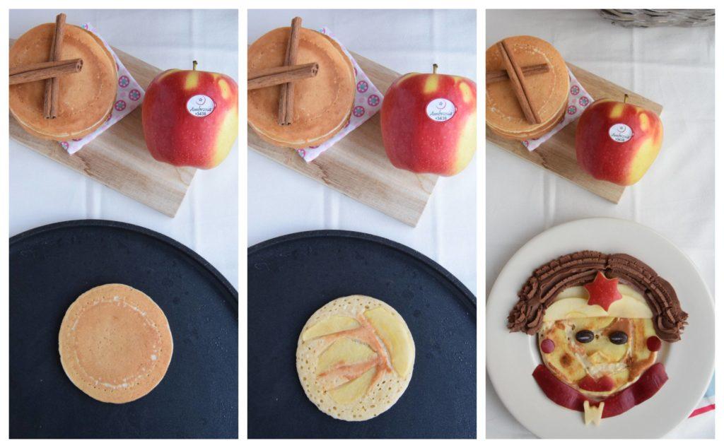 Pancake Vegan alle Mele Ambrosia e Cannella LA CASCATA DEI SAPORI