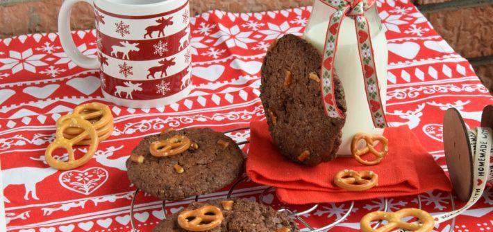 Cookies al Cioccolato, Caramello salato e Pretzel