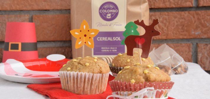 Muffin speziati di Natale agli 8 Cereali e Miele