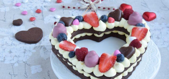 Cream Tart a forma di cuore con Crema Chantilly allo Zafferano. Ricetta di San Valentino
