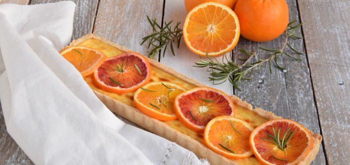 Crostata all'Arancia, Rosmarino e Labneh